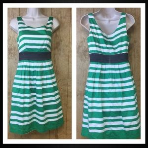 The Limited Dress Size 2 Striped Fit Flare A Line